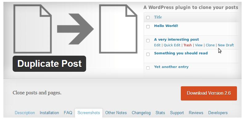 wordpress_dupicate_page_home