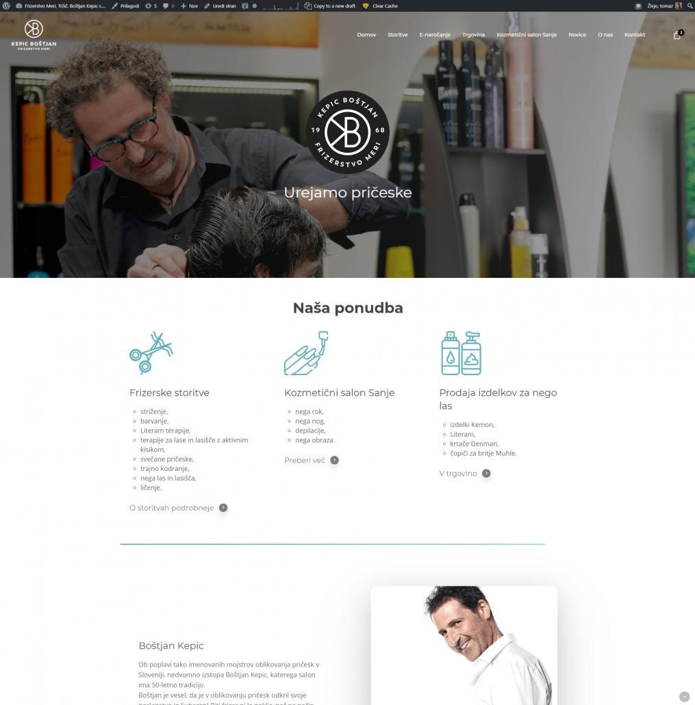 Izdelava spletne strani Frizerskega salona Kepic