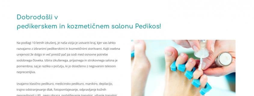 Izdelava spletne strani za kozmetični salon
